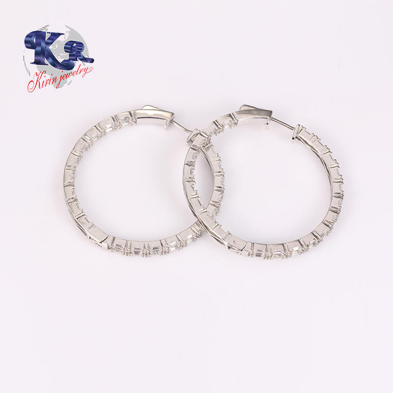 Round Big Hoop Earring Sterling Silver Circle Endless Jewelry For Girls