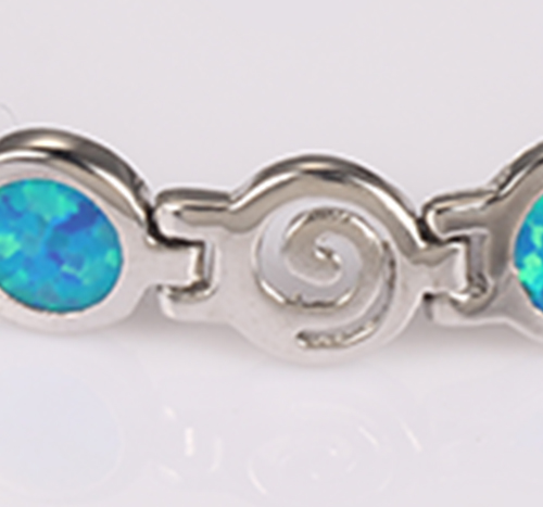 Kirin Jewelry -Manufacturer Of Jewelry Chain Blue Fire Opal Bracelet For Lady Party-11