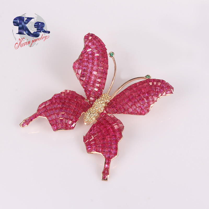 Butterfly Fashion 925 Silver Brooch For Ladies Wholesale