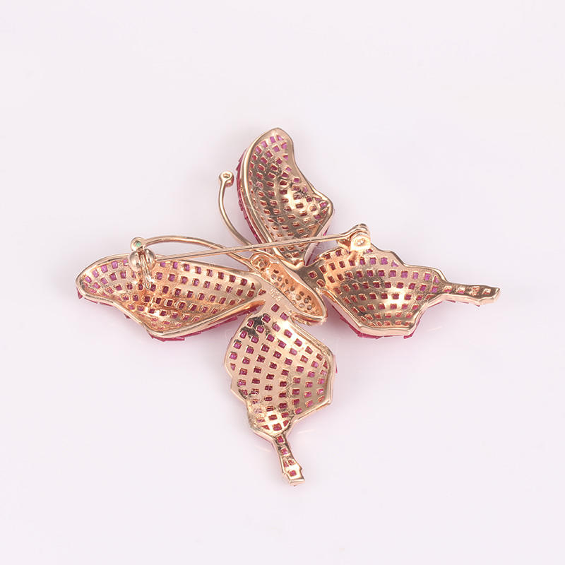 sterling silver brooches and pins flower zirconia 925 sterling silver brooch Kirin Jewelry Brand