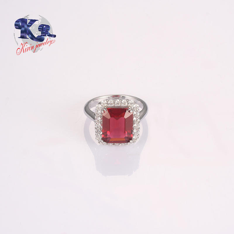 Big Stone Ruby Wedding Ring Designs For Women 925 Sterling Silver