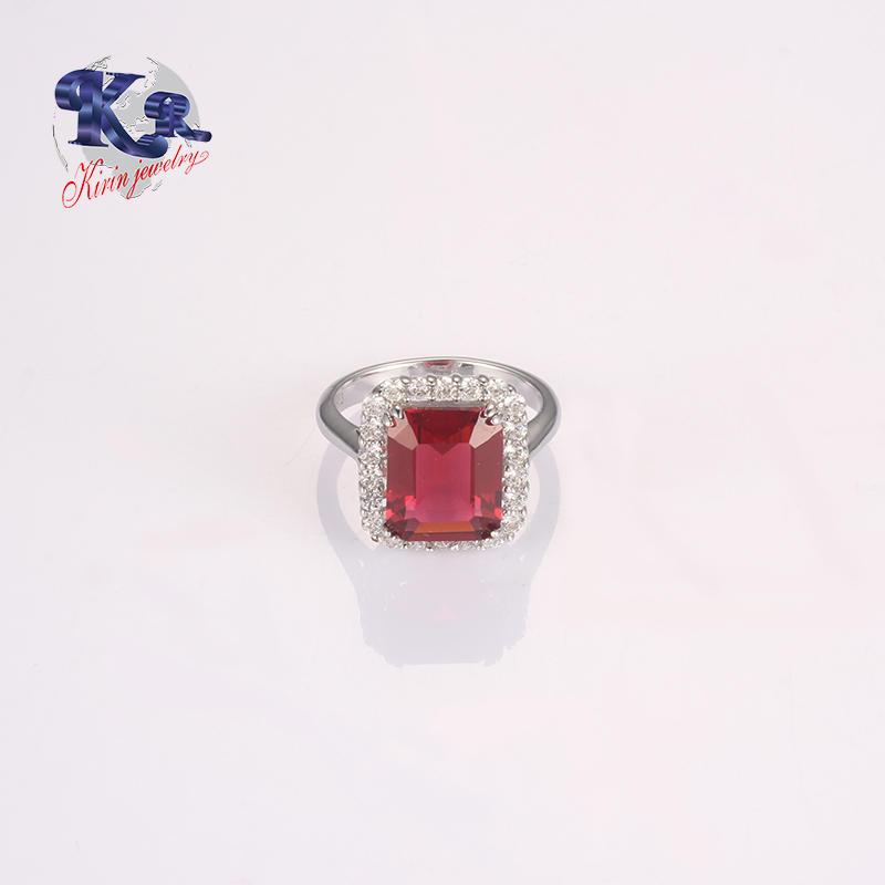 Big Stone Ruby Wedding Ring Designs For Women 925 Sterling Silver