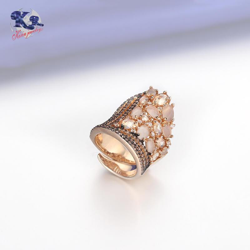 Classic Luxury Ring For Women Colorful AAA Cubic Zircon Kirin Jewelry 19546