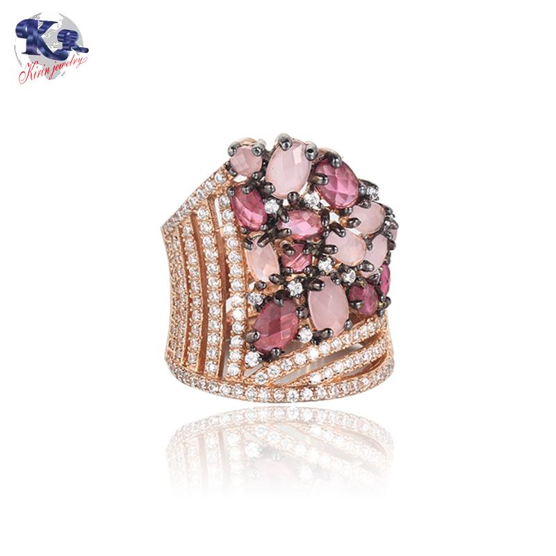 Kirin Jewelry -Classic Luxury Ring For Women Colorful Aaa Cubic Zircon Kirin
