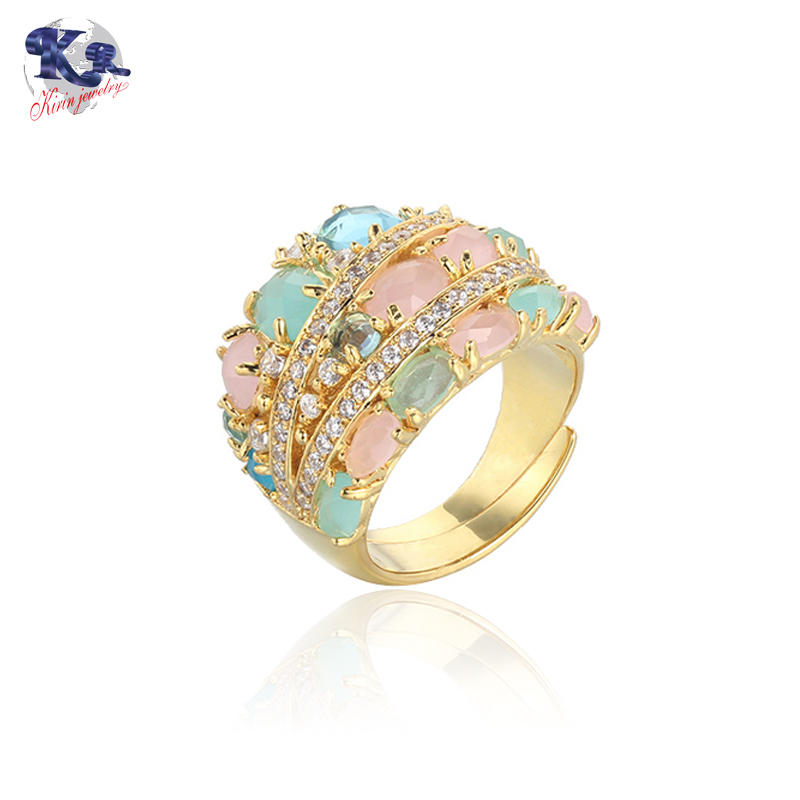 Kirin Jewelry circle silver band ring womens factory price for mother