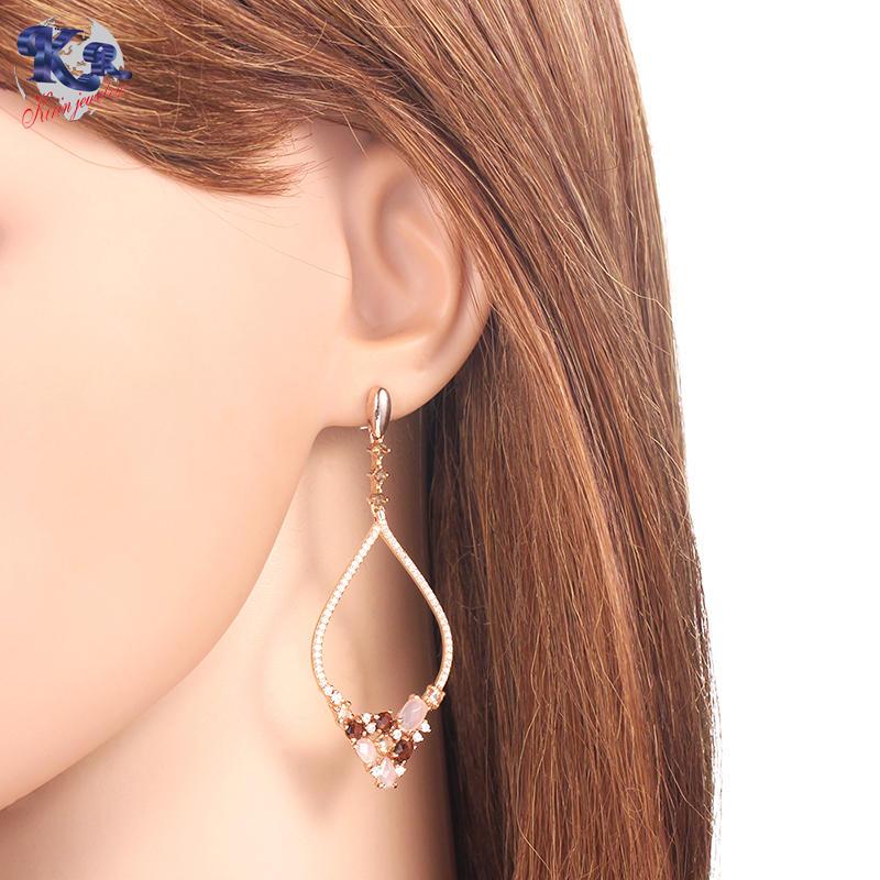 Kirin 925 sterling silver luxury earrings for women 82034