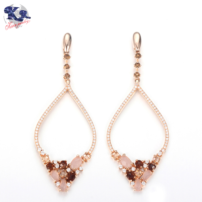 Kirin Jewelry -Rose Gold Earrings | Kirin 925 Sterling Silver Luxury Earrings