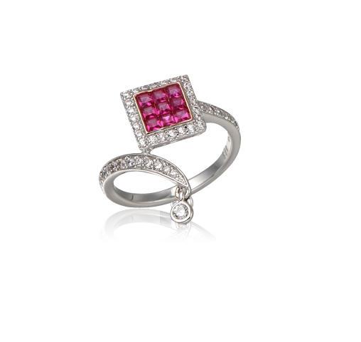 Women Romantic Fine Zircon Rings Wedding Engagement Ring Jewelry Gift Kirin Jewelry 104617