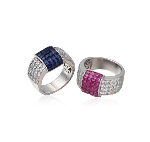 Square Design Wedding Engagement Ring Jewelry Kirin Jewelry 104758