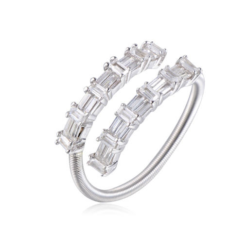 925 sterling silver ring for women baguette stone jewelry Kirin Jewelry 104501