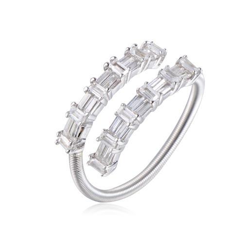925 sterling silver ring for women baguette stone jewelry Kirin Jewelry 104501