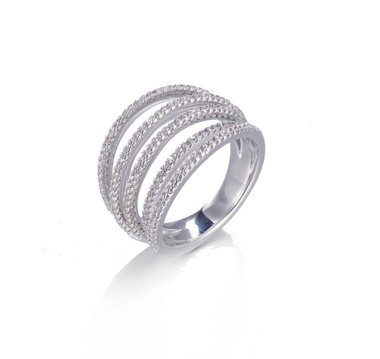 Korean Style Simple Small Zircon Delicate Ring Kirin Jewelry 105013