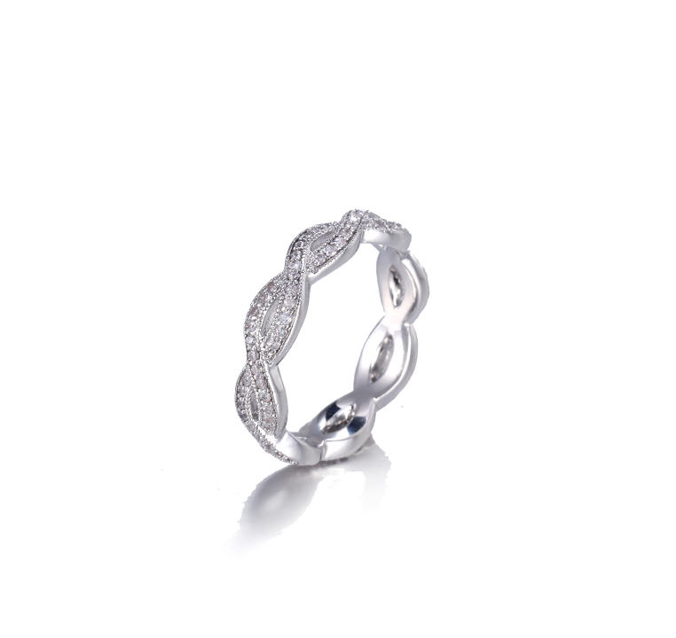 Daily 925 Sterling Silver CZ-Studded Lucky Ring Kirin Jewelry 105141