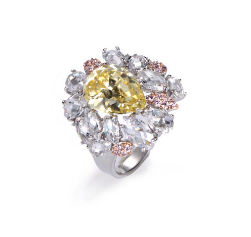 Luxury Big CZ Stone ring for women 925 sterling silver Kirin Jewelry 100261