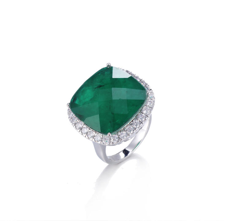 big stone Emerald color fashion jewelry ring for women Kirin Jewewlry 14896