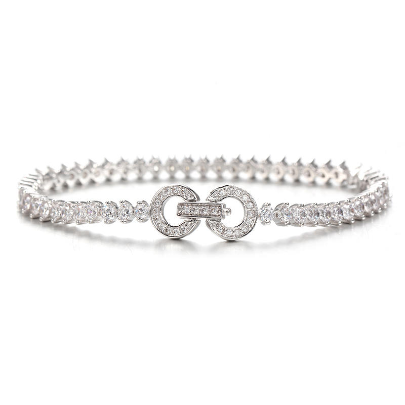 Womens 925 Sterling Silver Infinity Endless Love Symbol Charm Bracelet 61977 Kirin Jewelry