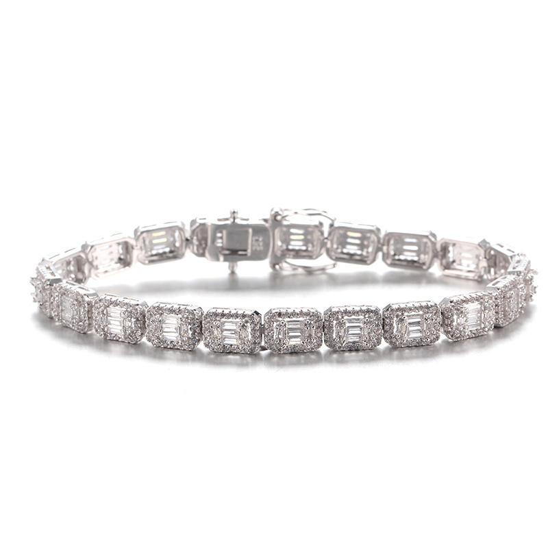 Baguette Cubic Zirconia Bangle Bracelet for Women 62008 Kirin Jewelry
