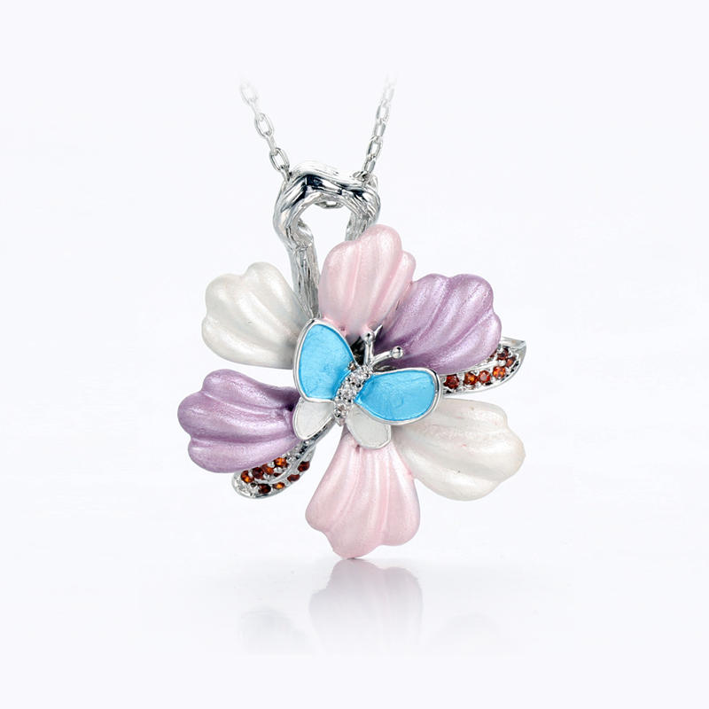 100% 925 Sterling Silver Pendant Necklace for WomenKirin Jewelry 84426P