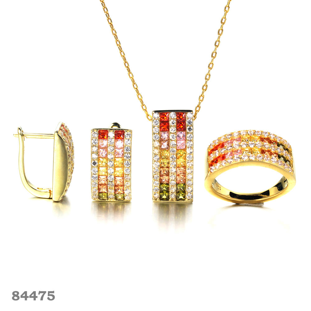 925 silver jewelry set Gold plated fashion jewelry set Kirin Jewelry 100056 84475