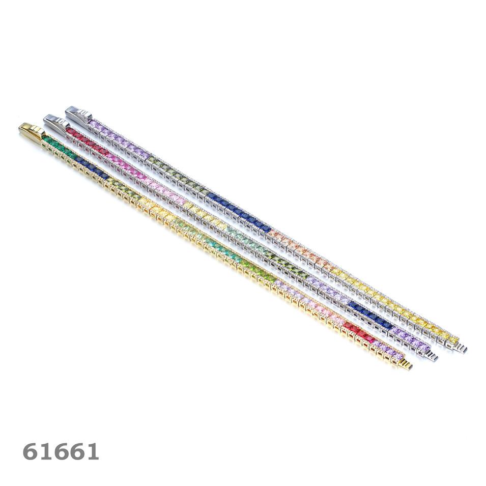 925 silver bracelet rhodium plated fine bracelet tennis bracelets Kirin Jewelry 61661