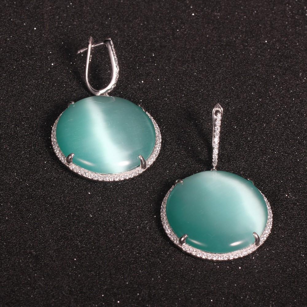 Kirin Jewelry -Real Silver Jewelry Manufacture | 925 Silver Jewelry Set Cat Eye