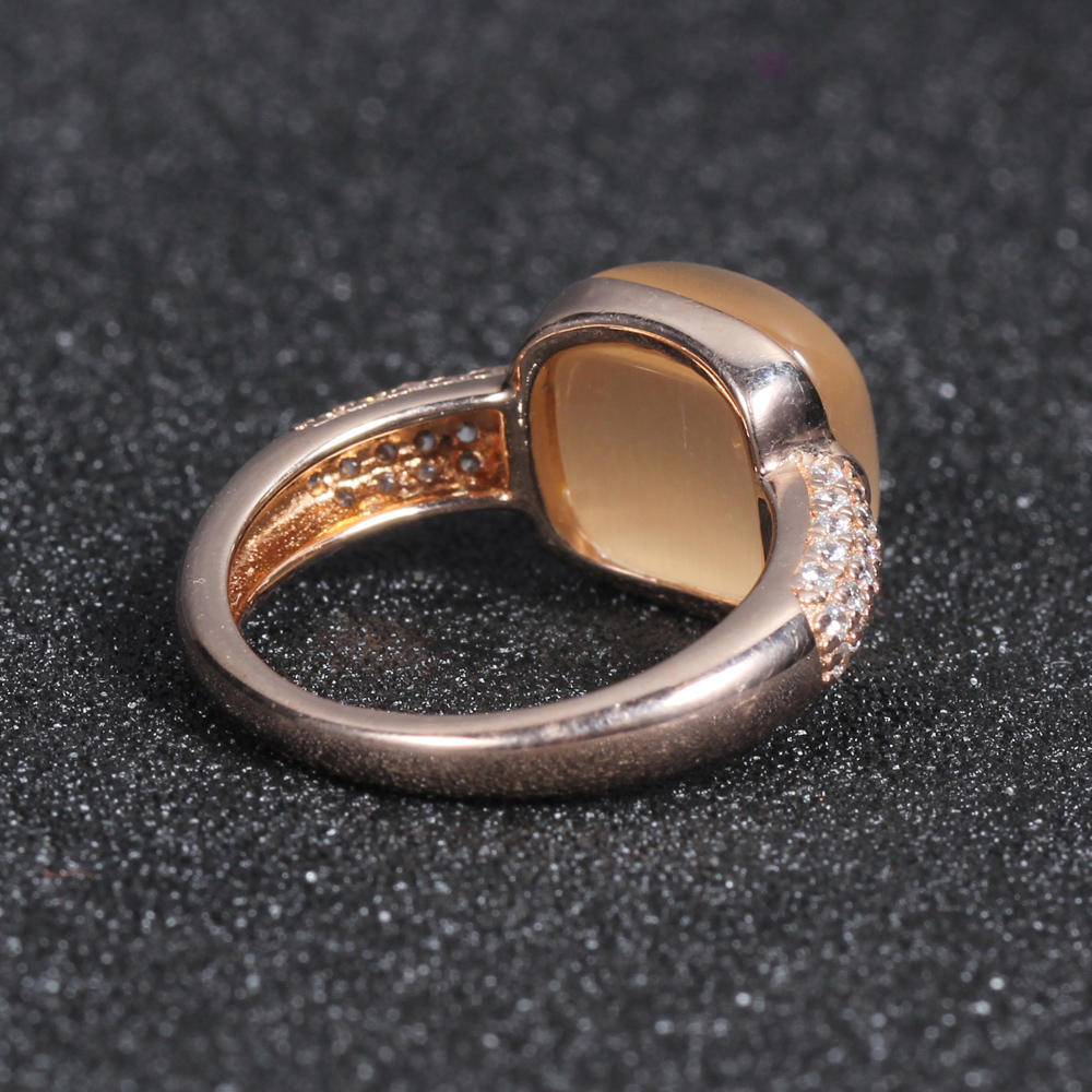 925 silver ring champagne cat eye jewlery set for women kirin jewelry 81388