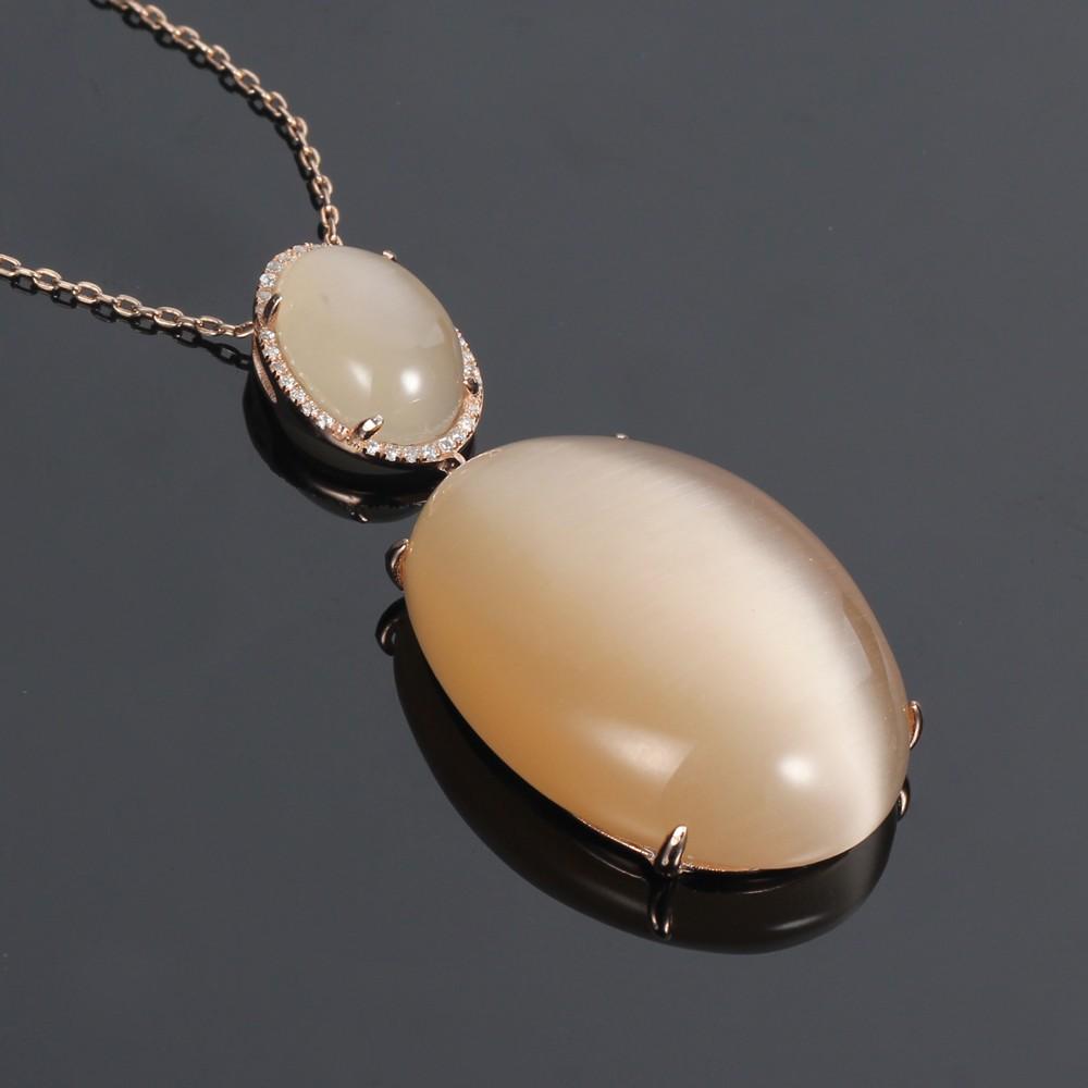 Kirin Jewelry -Best Pendant For Women 925 Silver Jewelry Set Cat Eye Jewelry