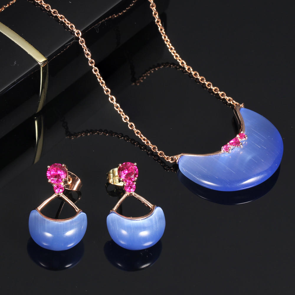 925 silver jewelry earrings pendant necklace for women 82939
