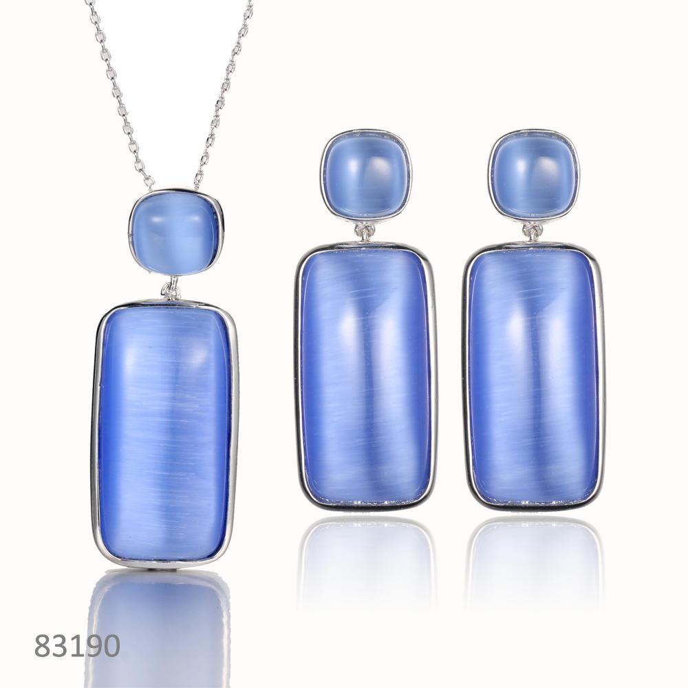 925 silver jewelry set cat eye drop earring jewelry kirin jewelry 83190