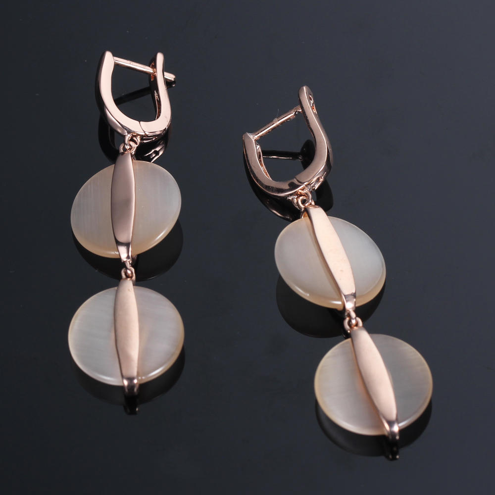 925 silver earrings drop earrings rose gold earrings Kirin Jewelry 85676