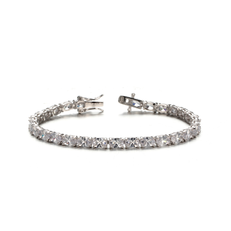 Kirin Jewelry -Heart Bracelet, 925 Sterling Silver Wedding Cubic Zirconia Bracelet