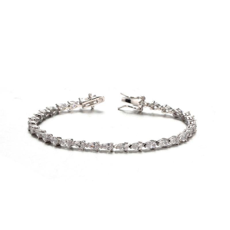 Kirin Jewelry -Sterling Silver Bracelets | Womens Silver-tone Clear Cz Cubic