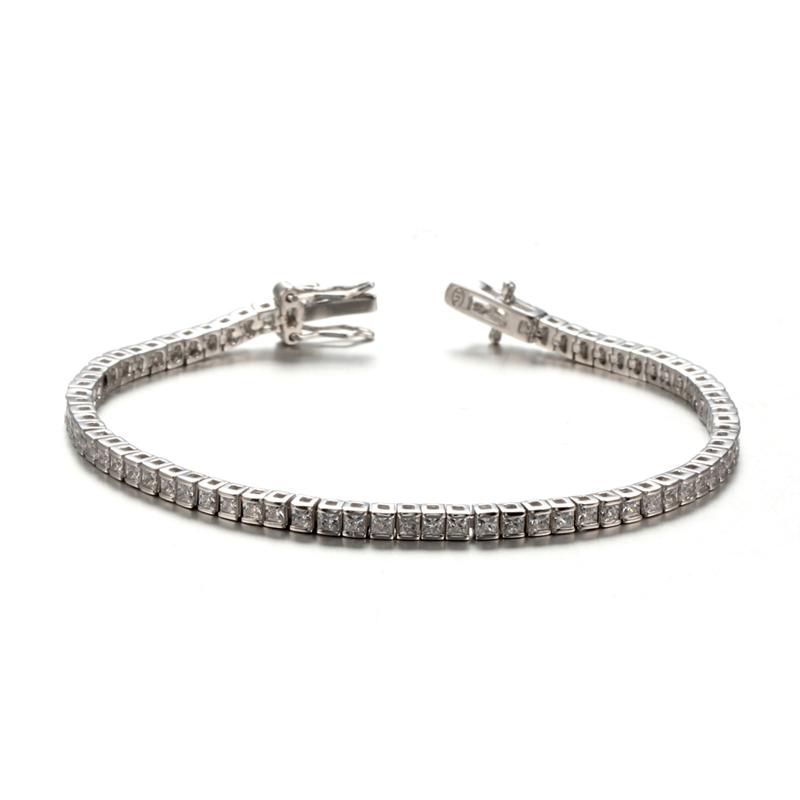 Kirin Jewelry -Women Princess Cut Cubic Zirconia Classic Tennis Bracelet 61947