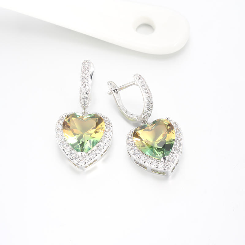 1pair Women Fashion 925 Sterling Silver Cubic Zirconia CZ Drop Earrings Jewelry Gifts 39037