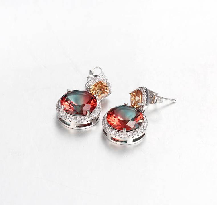 Kirin Jewelry -Best Jewelry Earrings Classic 925 Sterling Silver Cushion Cut Cubic Zirconia-1