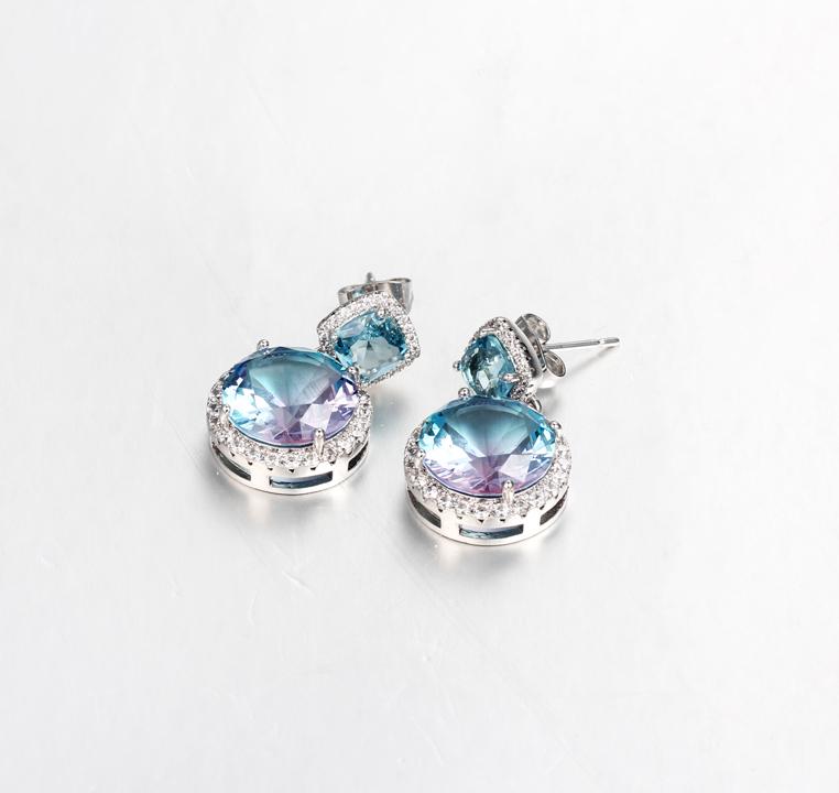 Kirin Jewelry -Best Jewelry Earrings Classic 925 Sterling Silver Cushion Cut Cubic Zirconia