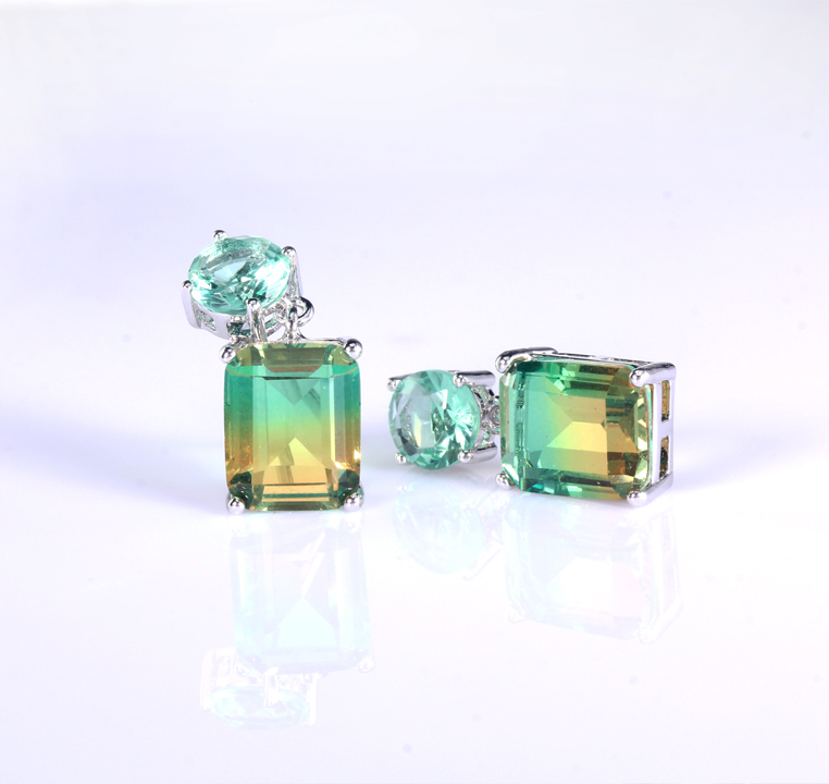 Kirin handmade white gold stud earrings with cheap price for partner-Kirin-img-1