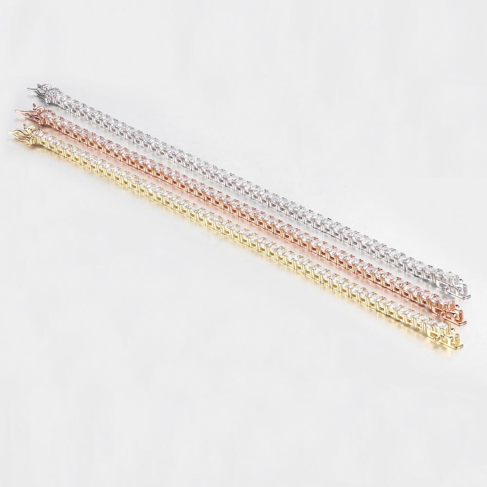 Women Luxury Tennis Bracelets Round Cubic Zirconia Bracelets Bangles Jewelry Gift 61930
