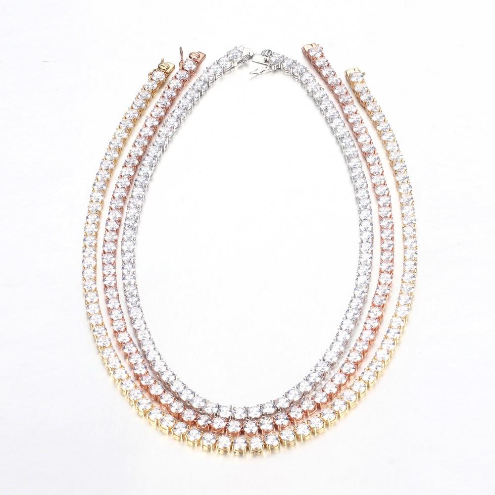 Kirin Jewelry -Women Elegant 925 Sterling Silver Cubic Zirconia Casual Chain