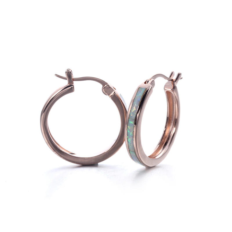 Stylish 925 Sterling Silver Opal Ear Stud Drop Hoop Earrings Classic Wedding Earring Jewelry 37760
