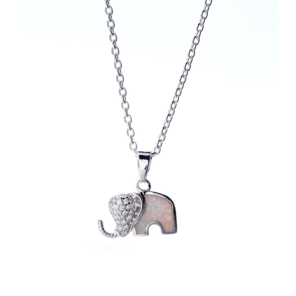 S925 Sterling Silver Pendant with Natural Opal Party Casual Pendant Necklace Jewelry 27096