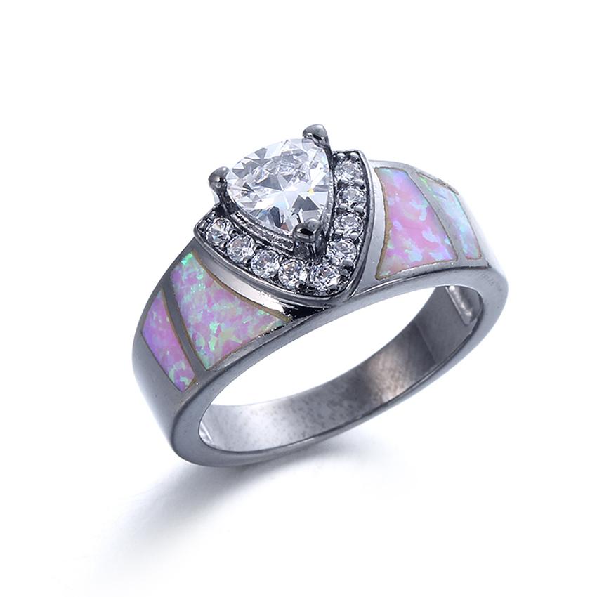 Kirin Jewelry -Best Beautiful Sterling Silver Rings Women Fashion Opal 925 Sterling