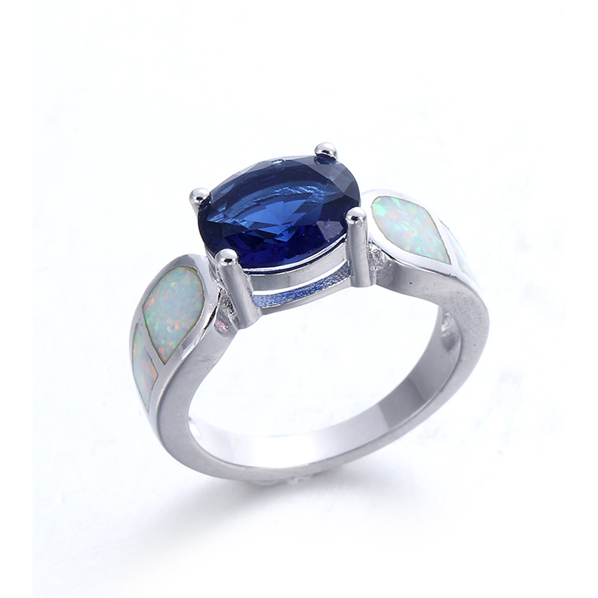Kirin Jewelry -High-quality Silver Jewelry Rings | Classic White Opal 925 Sterling