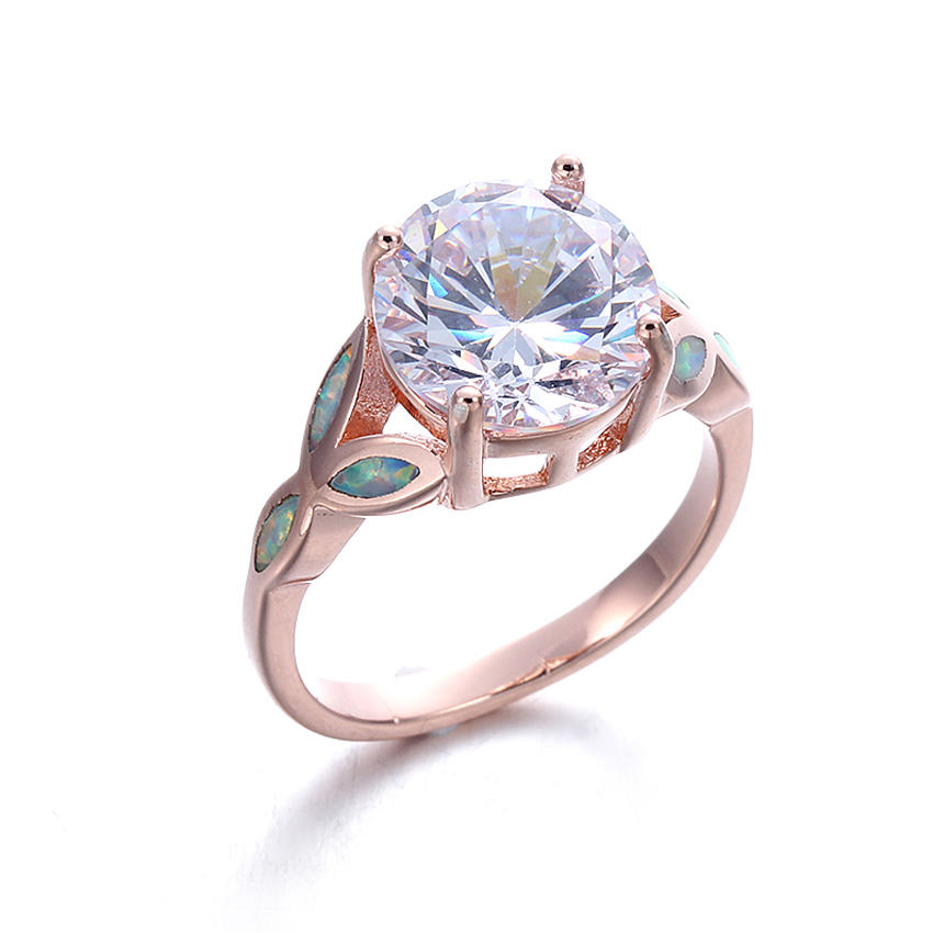White  Opal Ring 925 Sterling Silver Wedding Promise Ring Jewelry For Women 103556