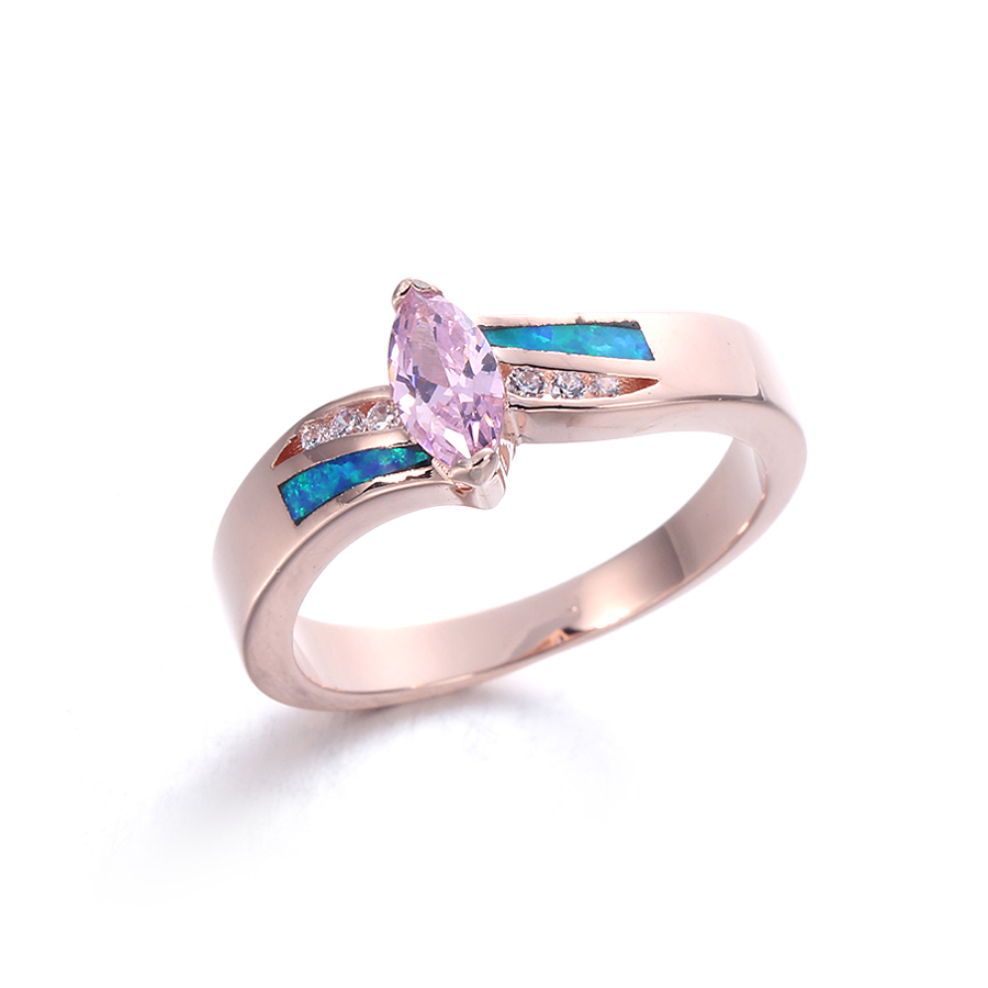 Kirin Jewelry -Best Ladies Silver Rings Opal Rings For Women Wedding