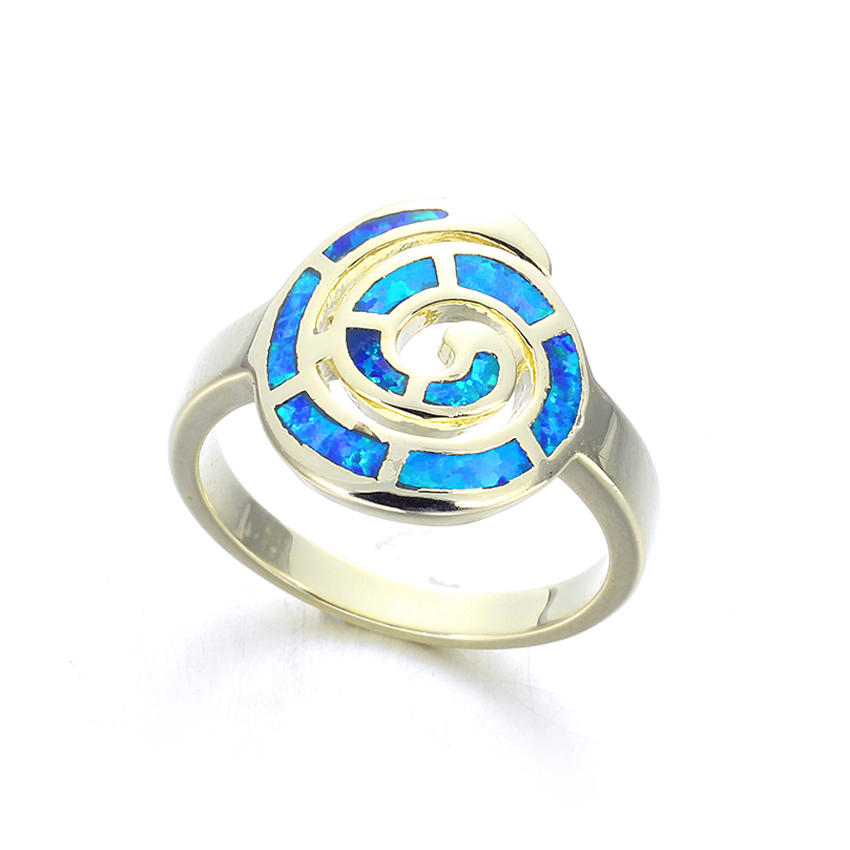 Kirin nice silver and opal ring free design for female