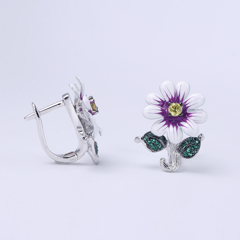 Hotsale Flower Shape 925 Sterling Silver Party Wedding Earring/Pendant/Ring Jewelry 84432