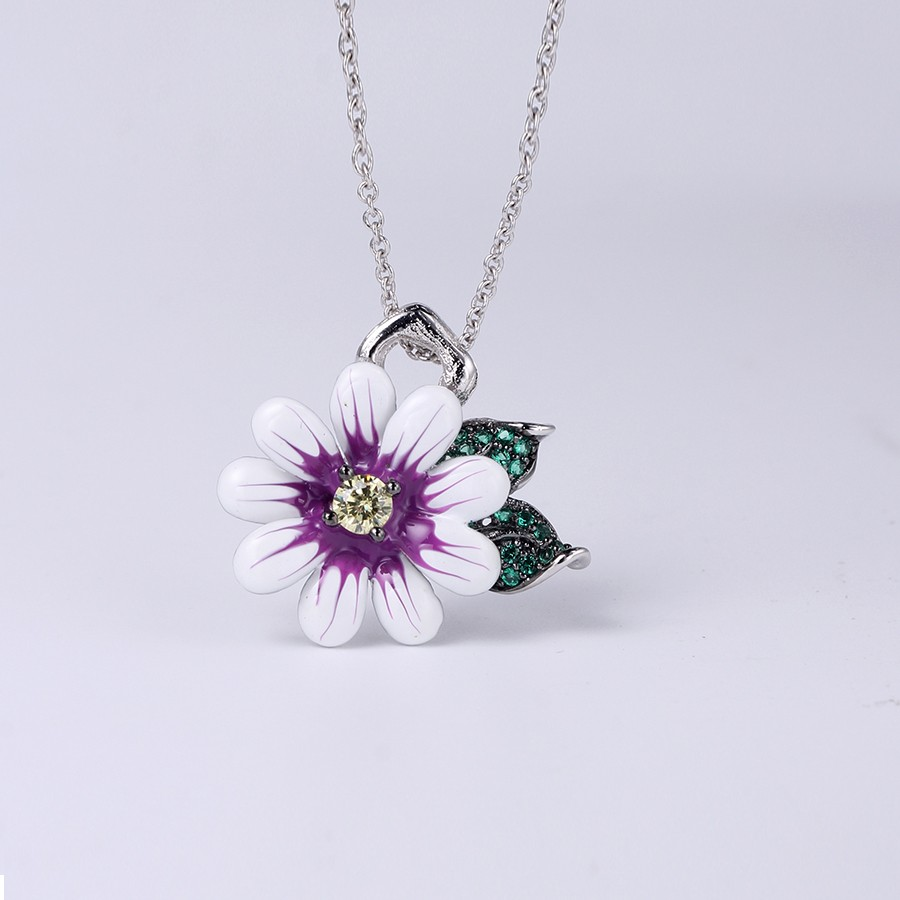 Kirin Jewelry -Ring And Necklace Set | Hotsale Flower Shape 925 Sterling Silver