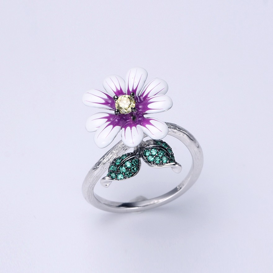 Kirin Jewelry -Ring And Necklace Set | Hotsale Flower Shape 925 Sterling Silver-1