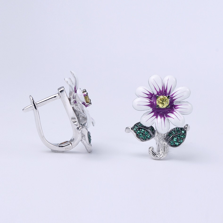 Kirin Jewelry -Ring And Necklace Set | Hotsale Flower Shape 925 Sterling Silver-2